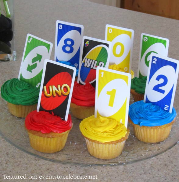 Uno First Birthday Party Cupcakes - eventstocelebrate.net