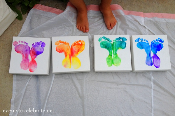 Butterfly Footprint Art