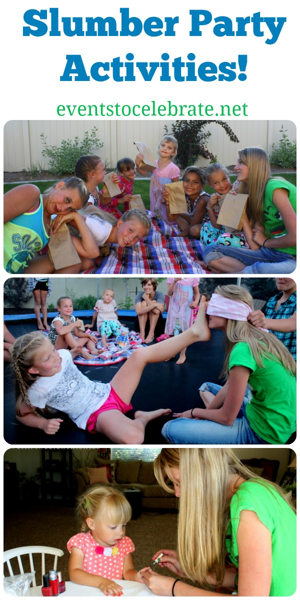Slumber Party Activities - Events To Celebrate