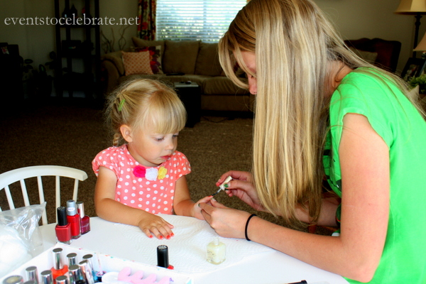 Slumber Party Activities - Nail Painting