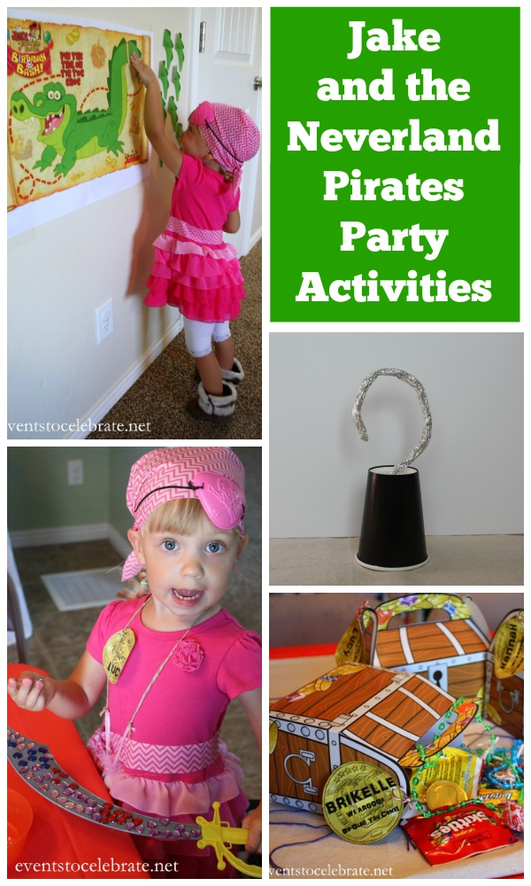 Jake and the Neverland Pirates Party Activities - Events To Celebrate