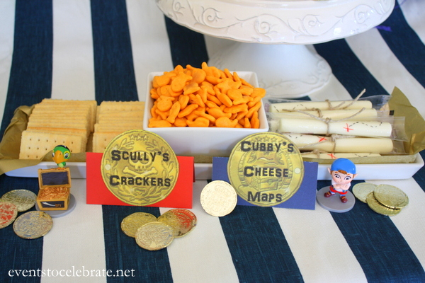 Jake and the Neverland Pirates - Scullys Crackers and Cubbys Cheese Maps