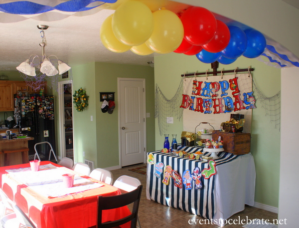 Jake and the neverland pirates party decorations events for Welcome home decorations ideas