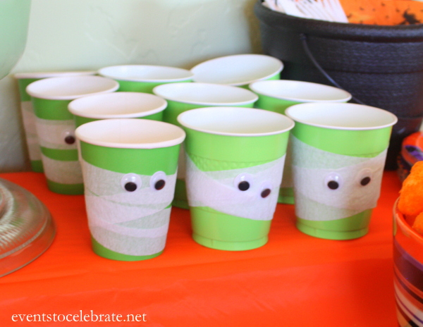 Halloween Frankenstein Cups - Events To Celebrate