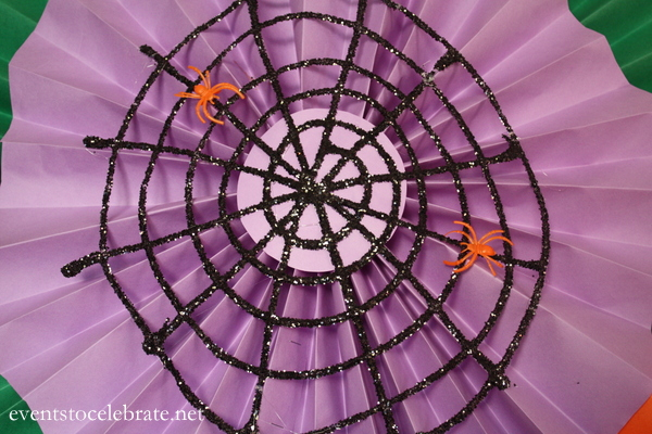 Halloween Glitter Spider Webs - Events To Celebrate