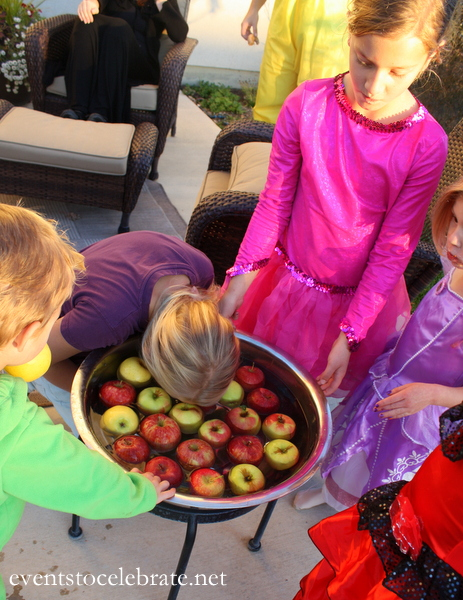 Halloween Party Activity - Bobbing for Apples - Events To Celebrate