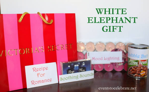 White Elephant gift idea - eventstocelebrate.net