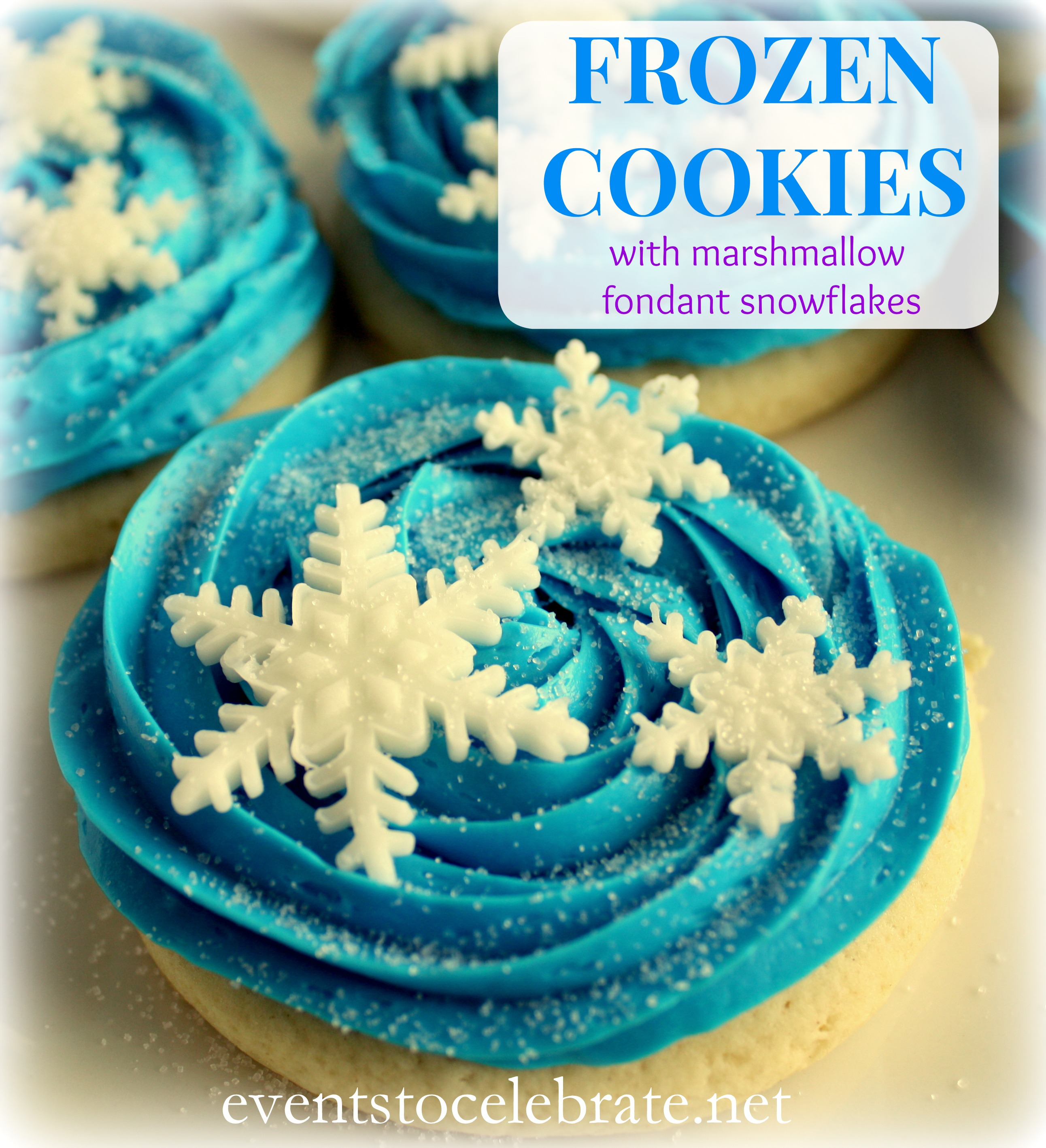 Frozen cookies or cupcakes - recipe and instructions - Events To Celebrate