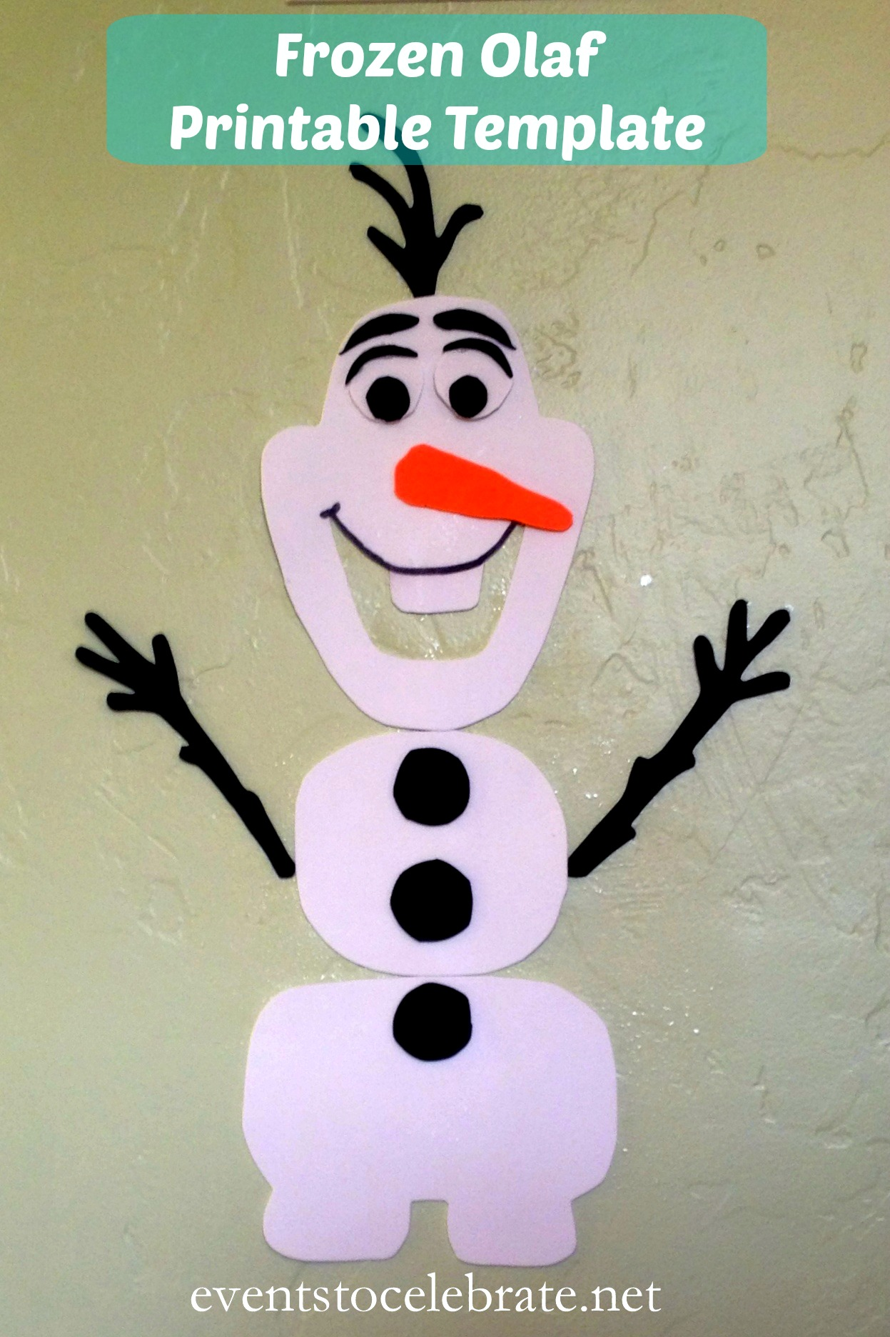 photo relating to Olaf Printable Cut Out named Frozen Olaf Template -