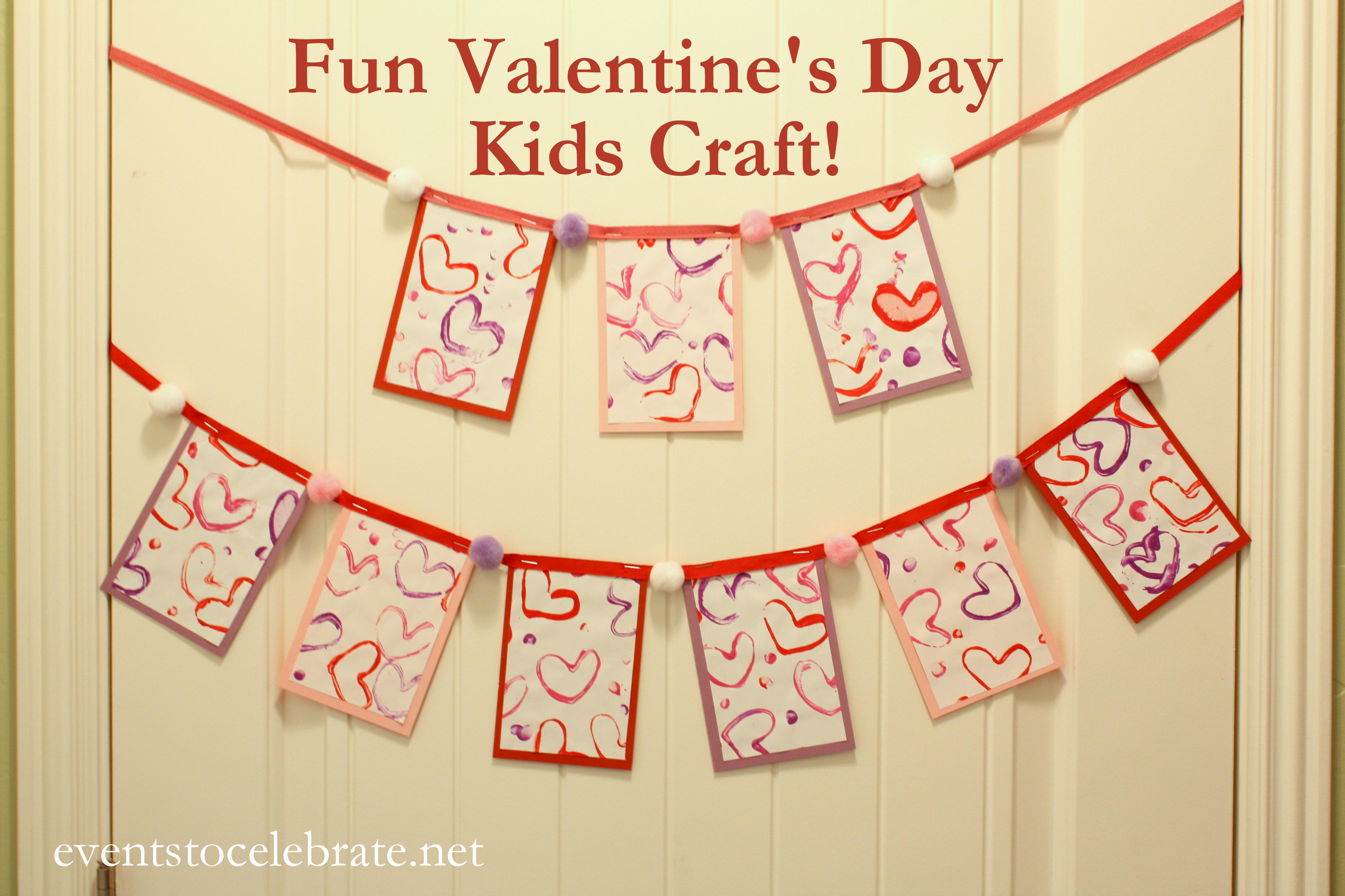 Valentines Day Craft for Kids - eventstocelebrate.net
