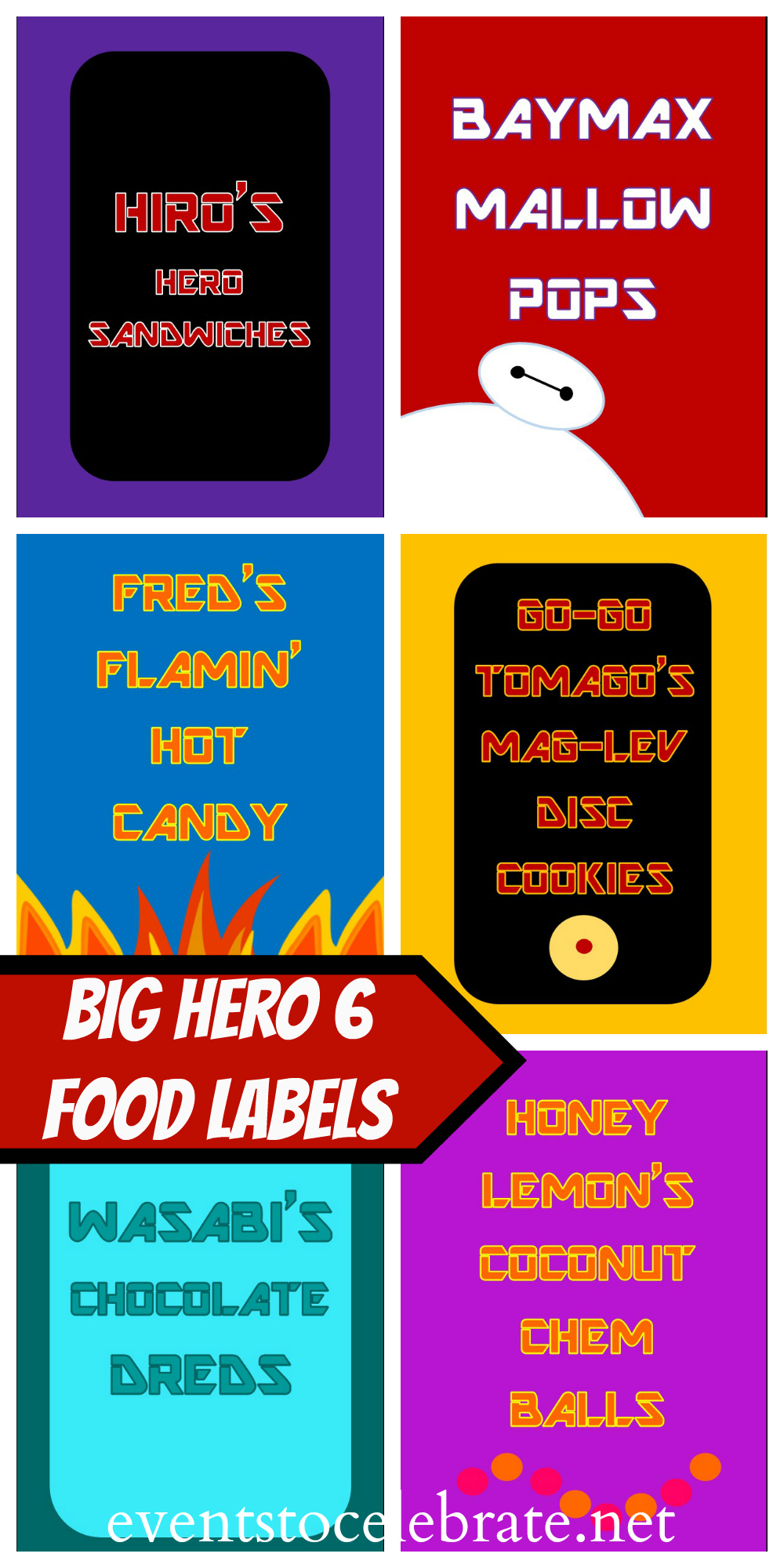 BIG HERO 6 PRINTABLES Big Hero Birthday Party
