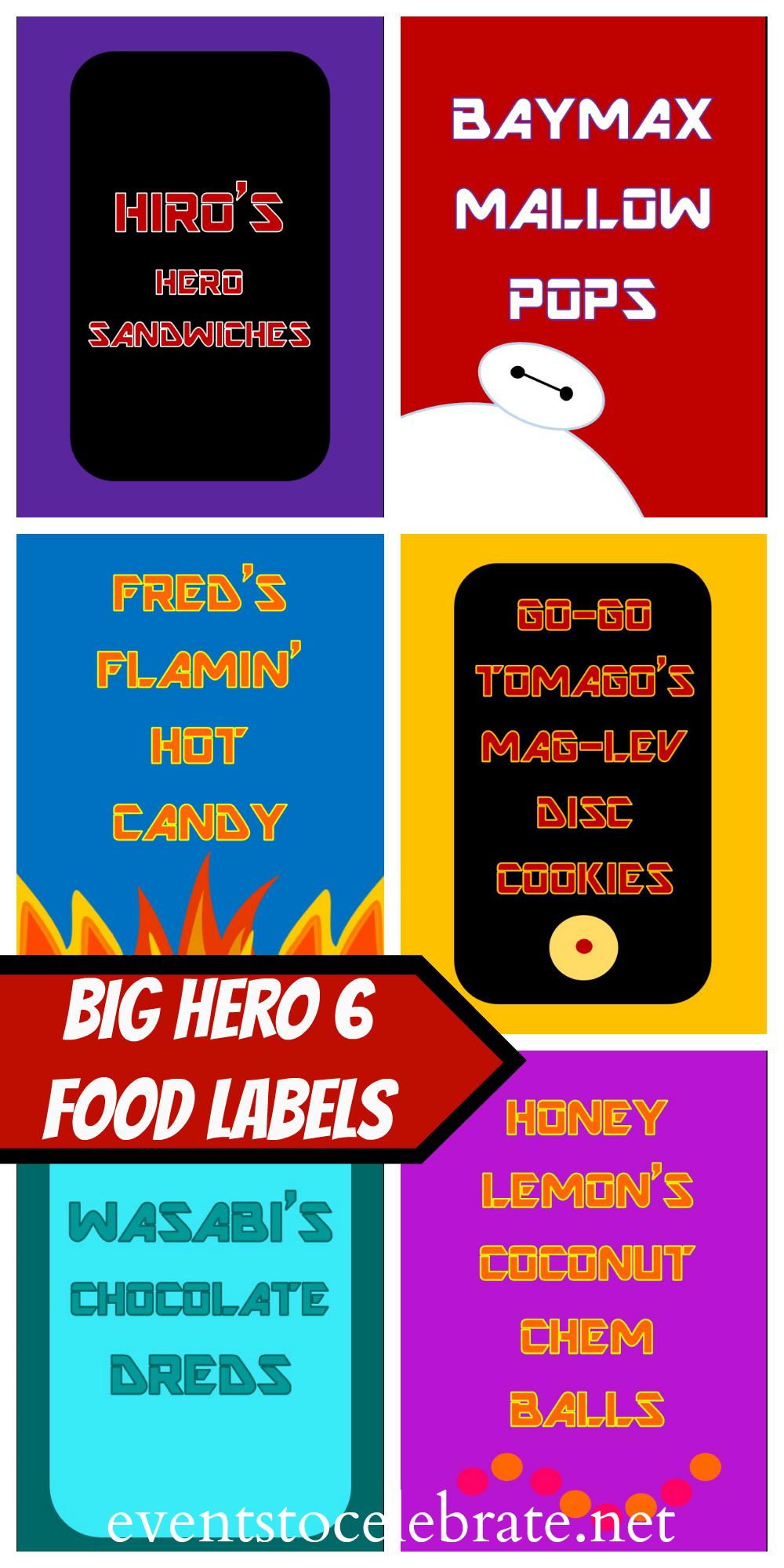 BIG HERO 6 PRINTABLES Big Hero Birthday Party