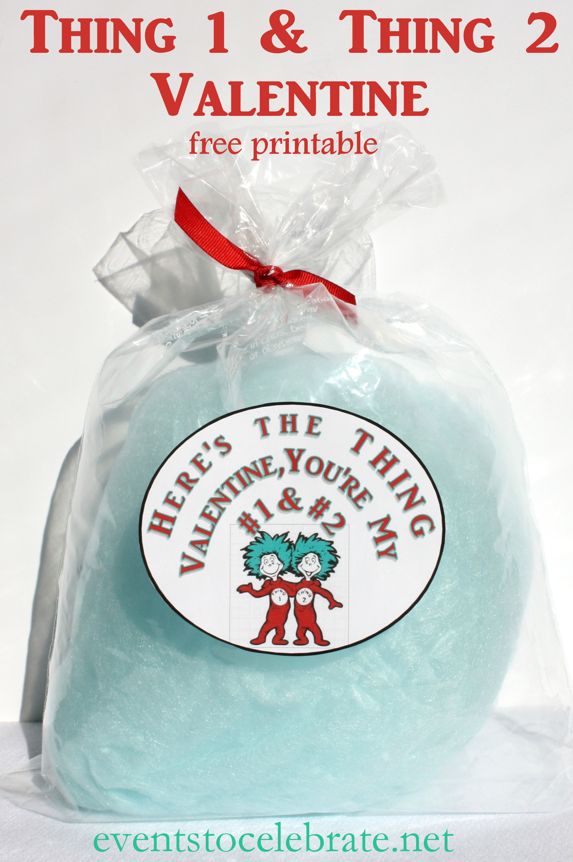 Dr Seuss Thing 1 and Thing 2 Valentine Free Printable - eventstocelebrate.net