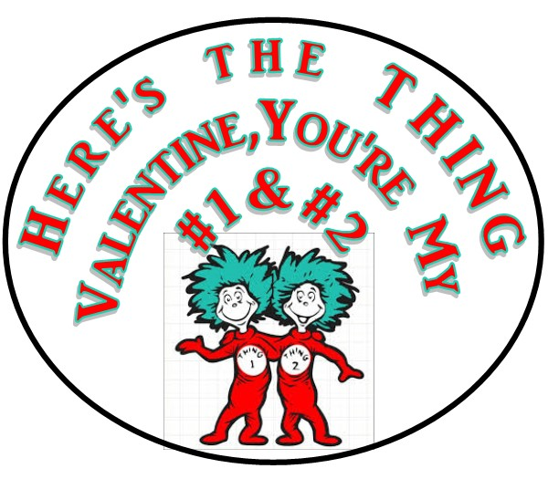Thing 1 & 2 Valentines