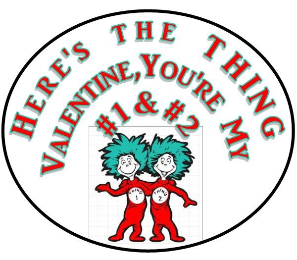 Thing 1 & 2 Valentines