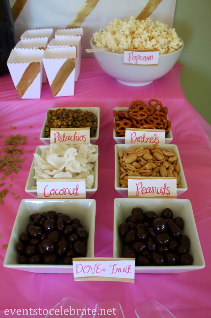 DOVE® Fruits Party Mix Bar - evenstocelebrate.net #LoveDoveFruits #ad