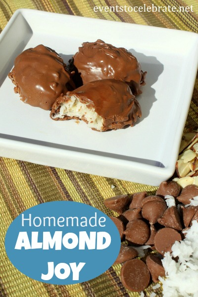 Homemade Almond Joy - Events To Celebrate