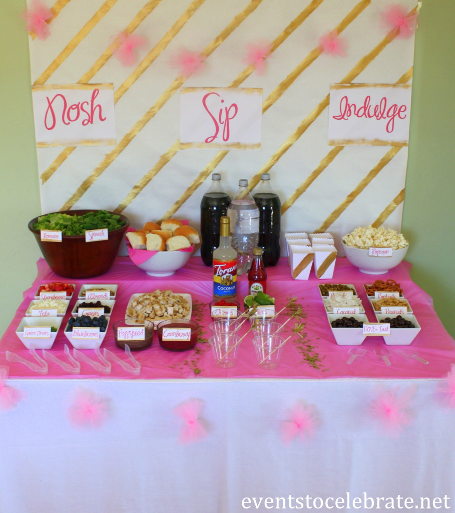 Pink and Gold Party Decorations - eventstocelebrate.net #LoveDoveFruits #ad