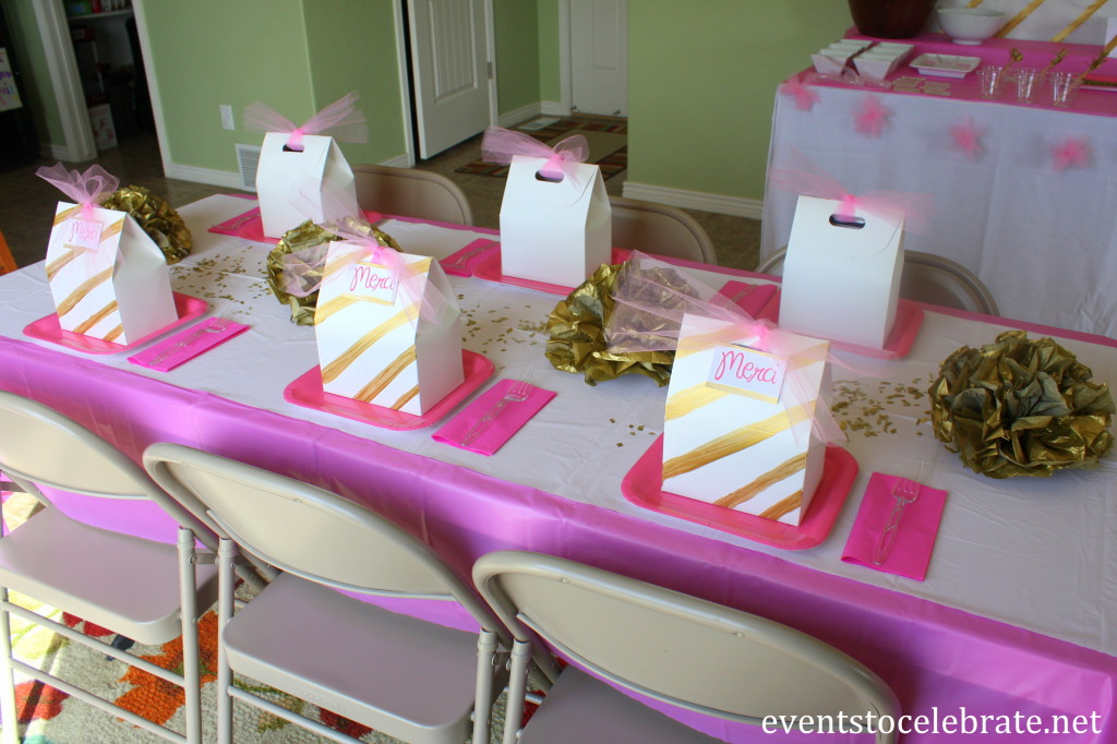 Pink and Gold Party Table - eventstocelebrate.net #LoveDoveFruits #ad