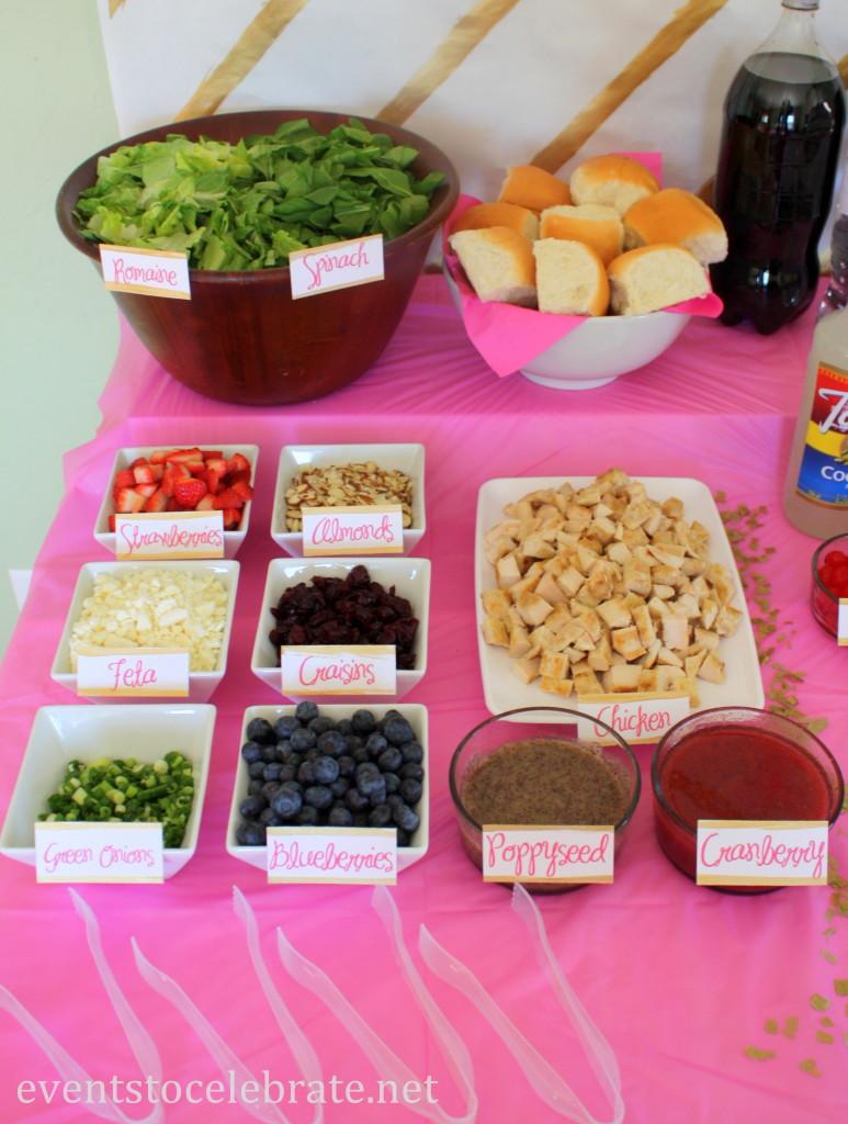 Salad Bar Display - eventstocelebrate.net #LoveDoveFruits #ad