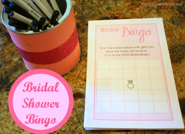 Bridal Shower Bingo Free Printable - eventstocelebrate.net