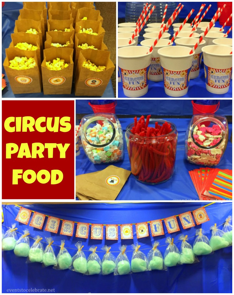 Circus Party Food - Events To Celebrate