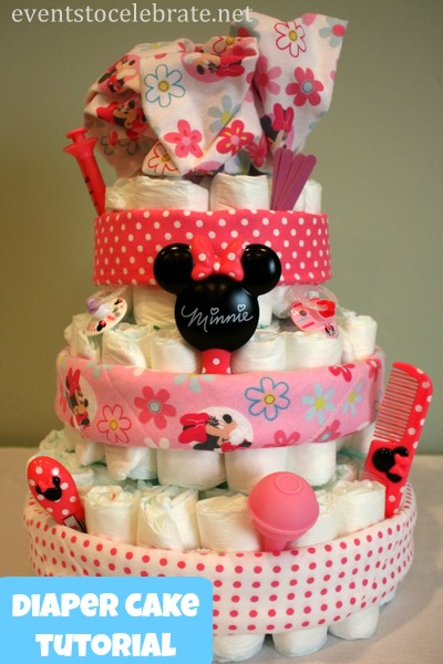 Diaper Cake Tutorial - Events To Celebrate