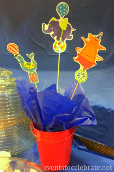 Circus Party Centerpiece - FREE PRINTABLES