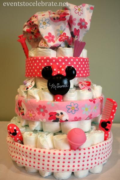 Diaper Cake Tutorial - Events To Celebrate