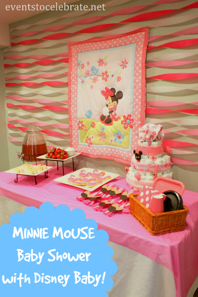 Minnie mouse baby shower ideas events to celebrate for Baby decoration games