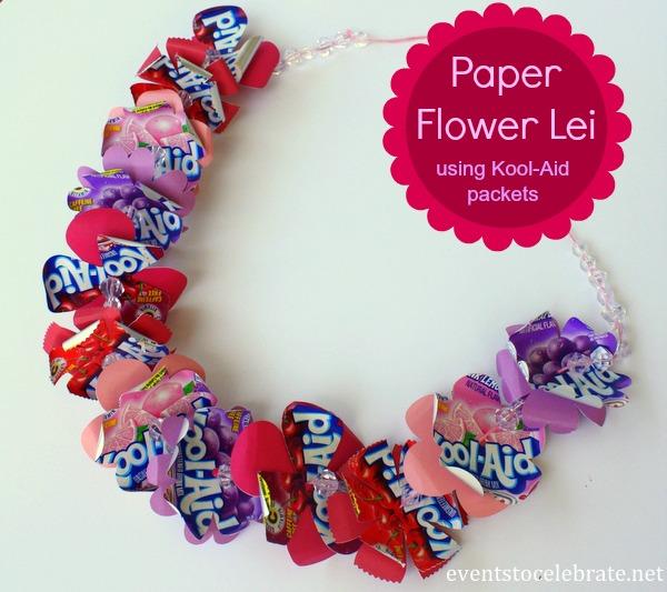 Paper Flower Lei - eventstocelebrate.net