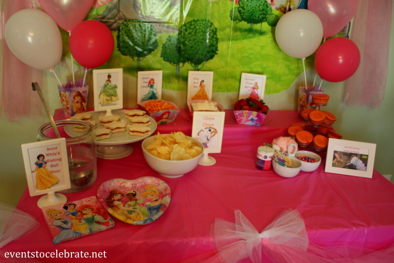 Princess Belle Decorations Pleasing Disney Princess Birthday Party Ideas Food & Decorations  Events Decorating Inspiration