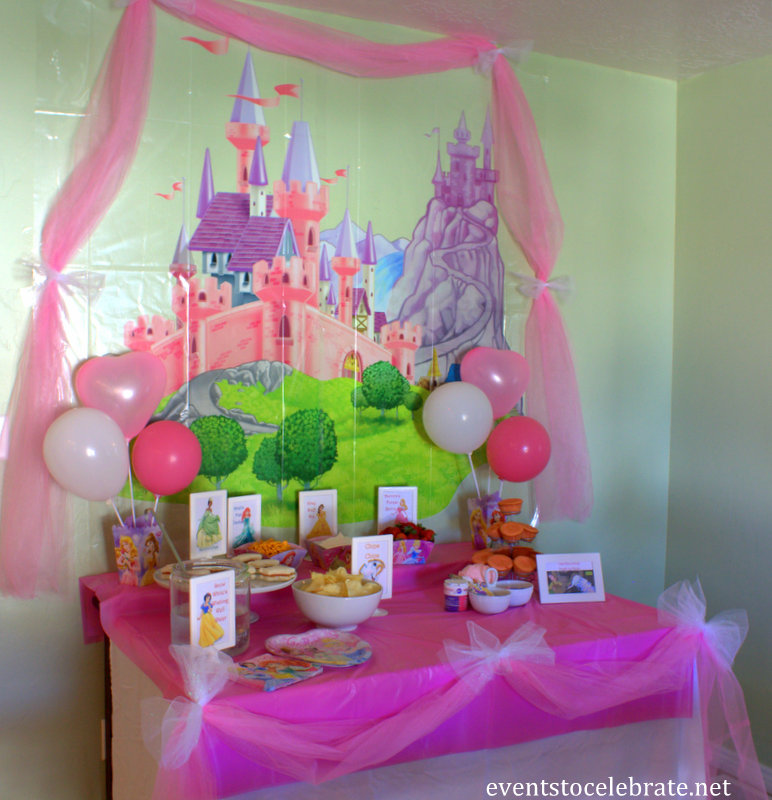 Disney Princess Birthday Party Ideas Food Amp Decorations