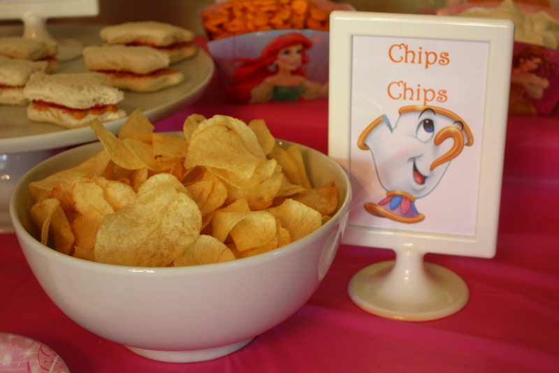 Princess Party Food - Chips Chips