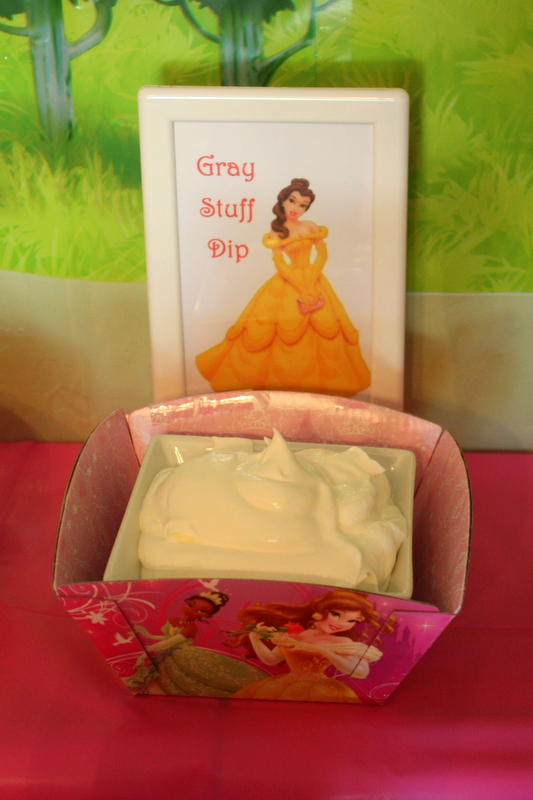 Princess Party Food - Grey Stuff Dip