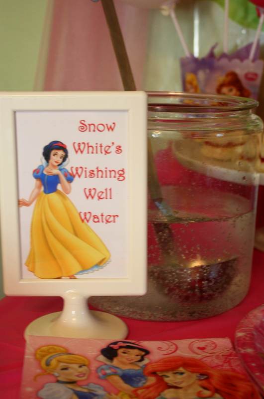 Princess Party Food - Snow White Wishing Well Water