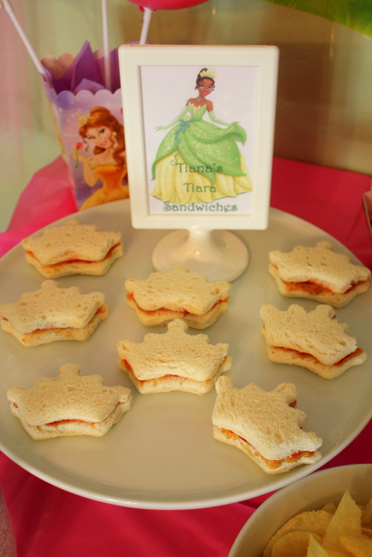 Princess Party Food - Tianas Tiara Sandwiches