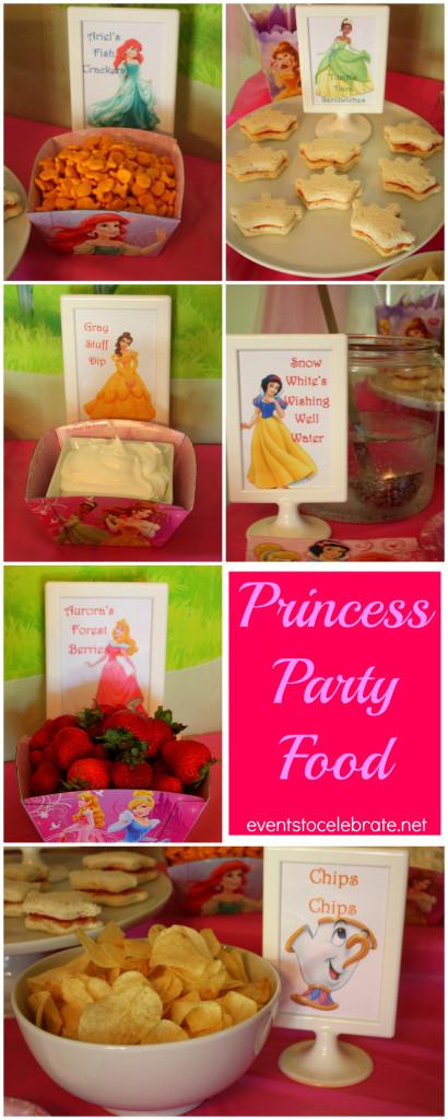 disney princess party food and decor
