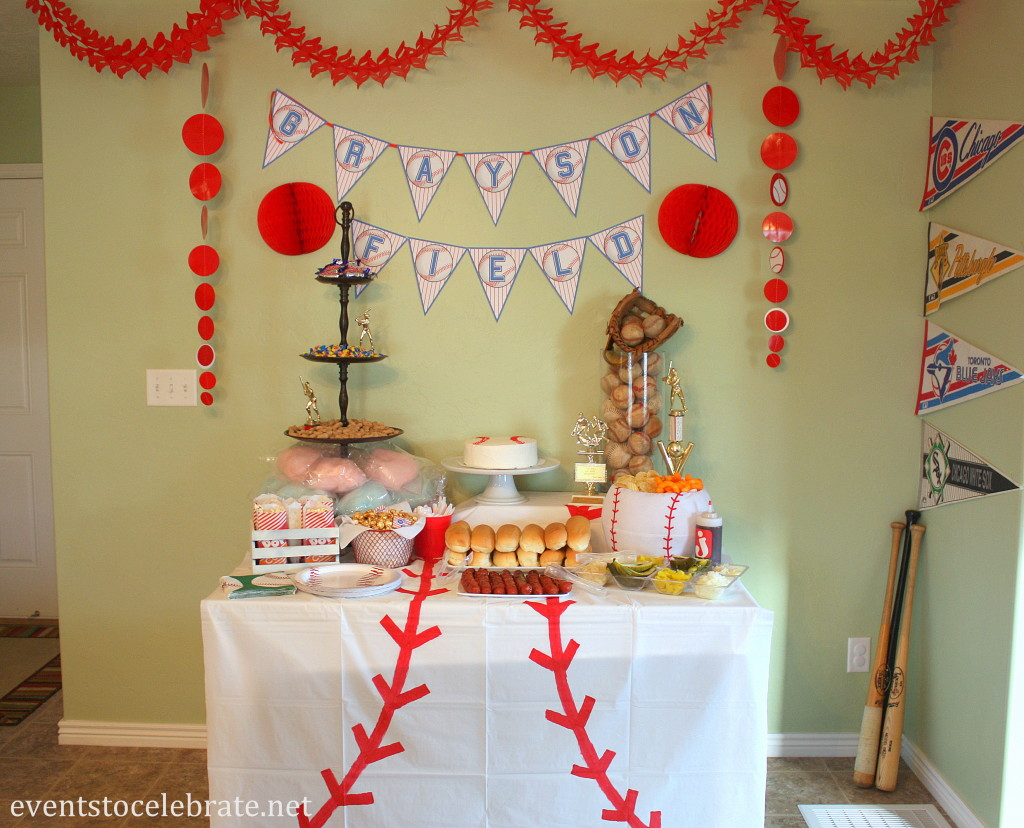 Baseball birthday party ideas events to celebrate for Net decoration ideas