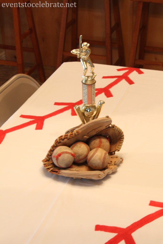 DIY Baseball Centerpiece