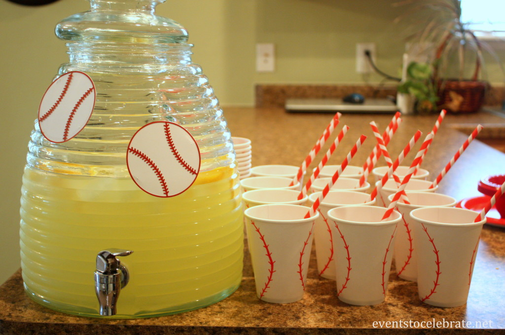DIY Baseball Drinking Cups - Events To Celebrate