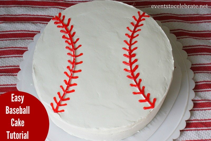 Tremendous Easy Baseball Cake Tutorial Personalised Birthday Cards Epsylily Jamesorg