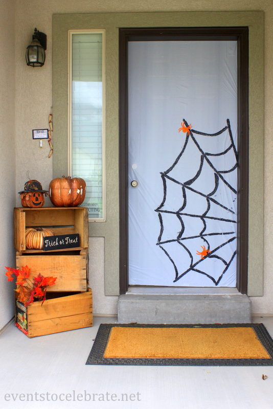 Easy Halloween Door Decoration - Events To Celebrate