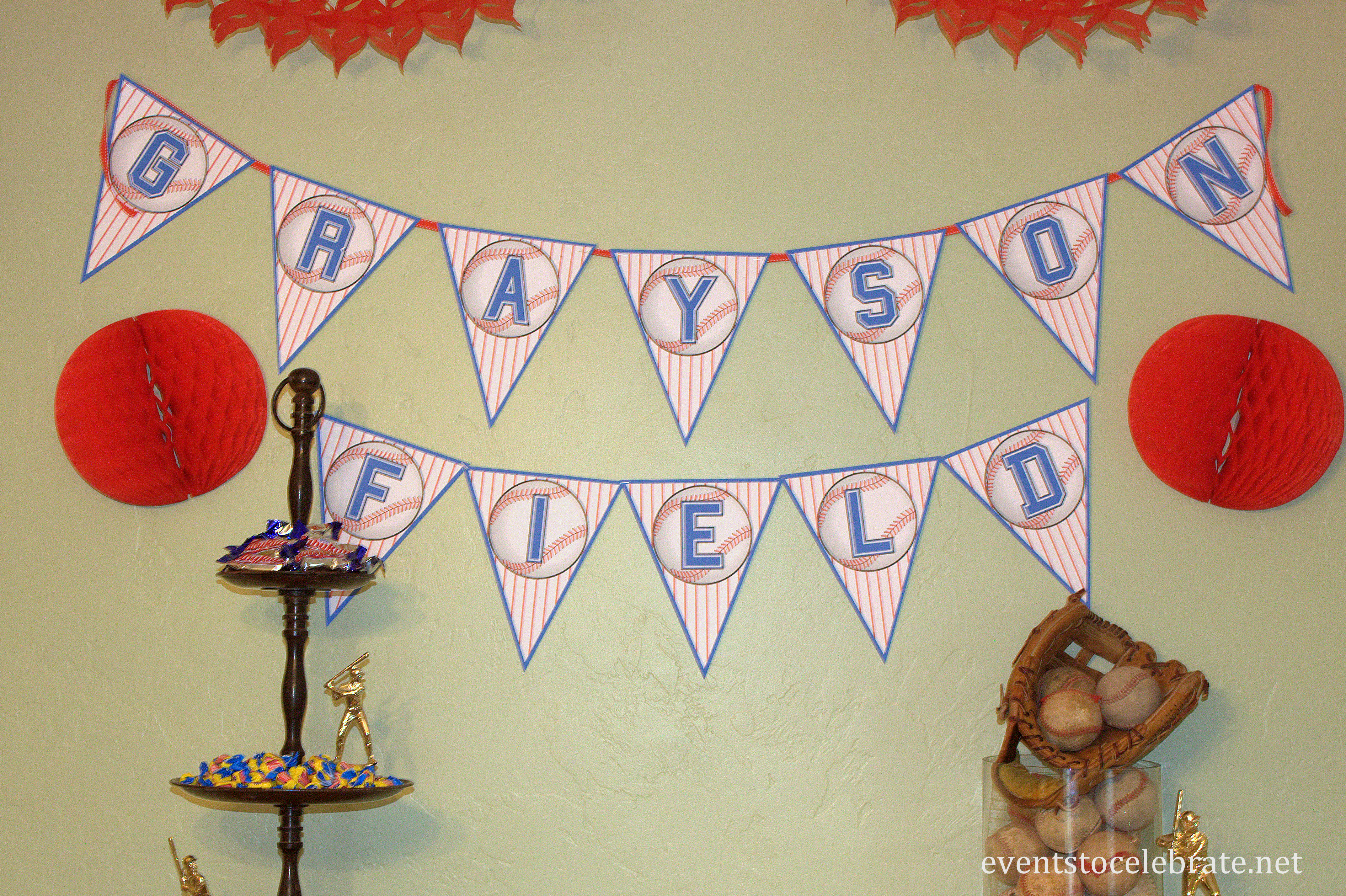 Printable Birthday Decorations Free ~ Baseball birthday party ideas events to celebrate!