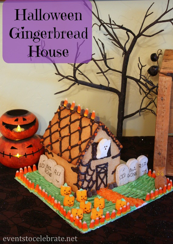 Halloween Gingerbread House - eventstocelebrate.net