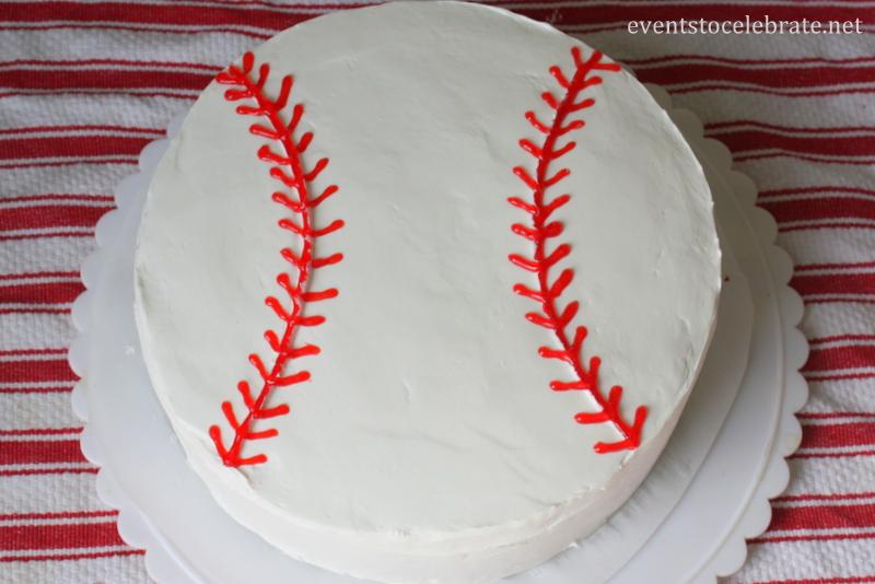 Easy Baseball Cake Tutorial - Events To Celebrate