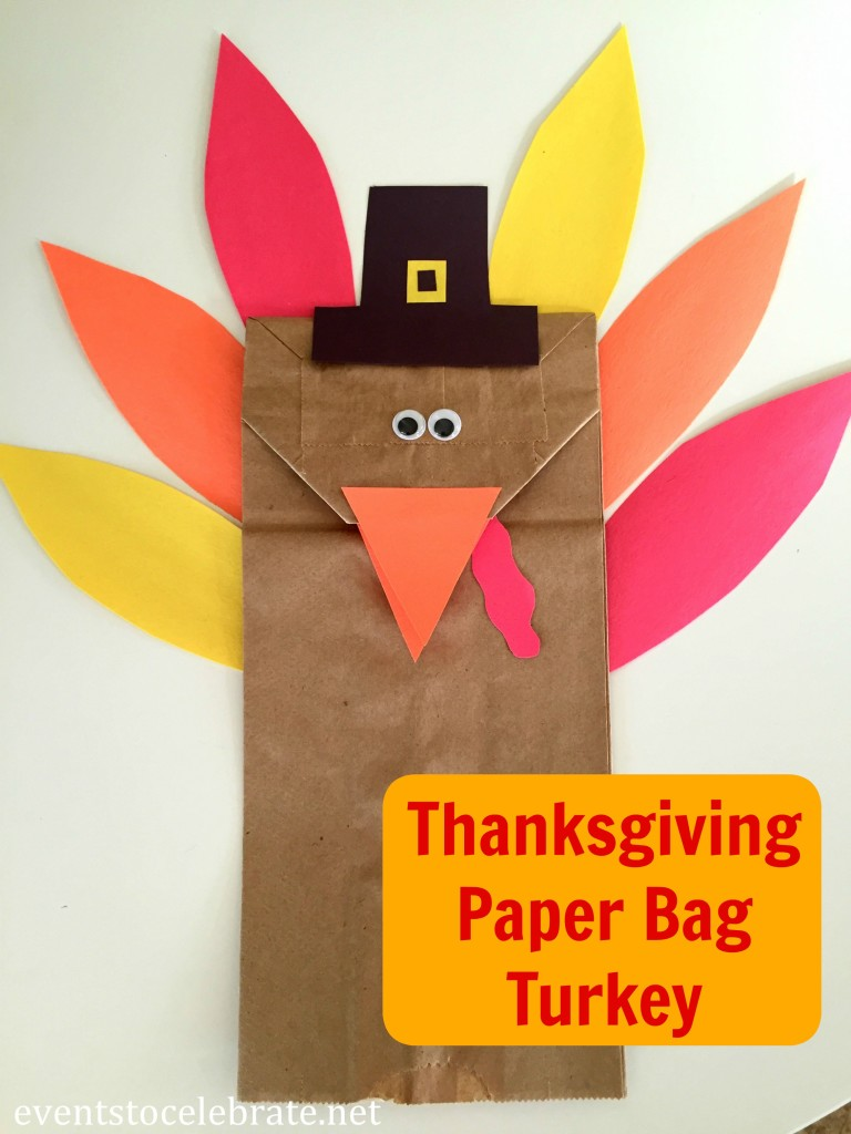 Thanksgiving Turkey Craft - eventstocelebrate.net