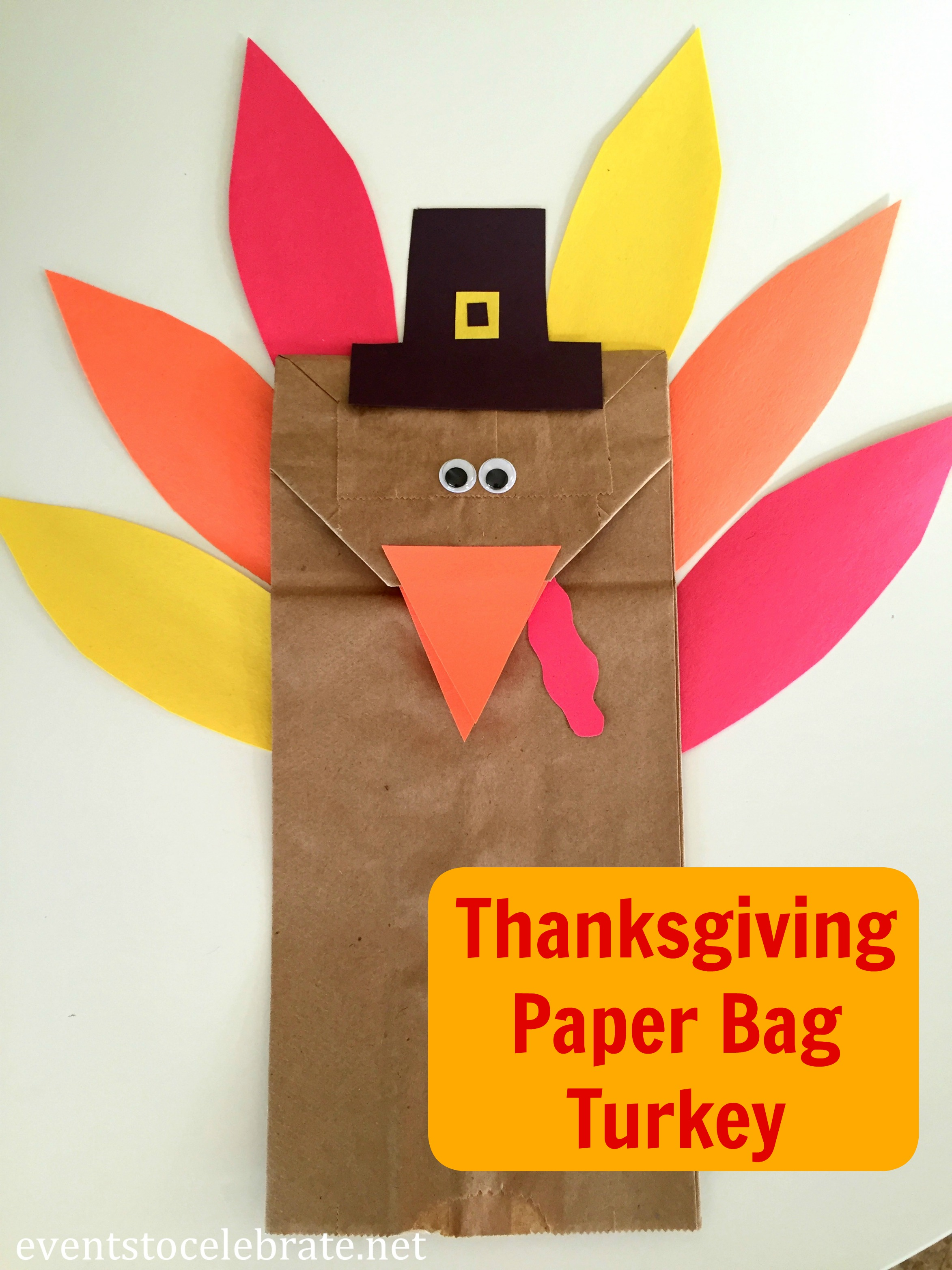 Thanksgiving Craft Ideas For Kids Part - 20: Thanksgiving Turkey Craft - Eventstocelebrate.net