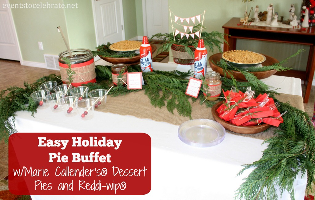 Holiday Pie Buffet with recipes and free printables - eventstocelebrate.net