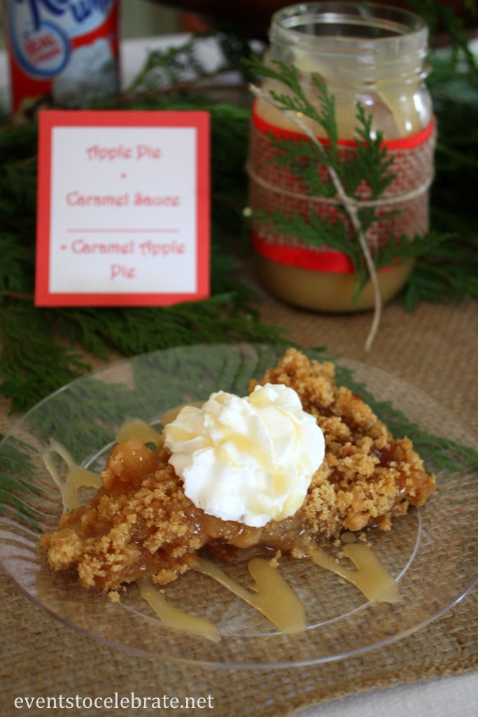 Caramel Apple Pie with homemade Caramel Sauce - eventstocelebrate.net